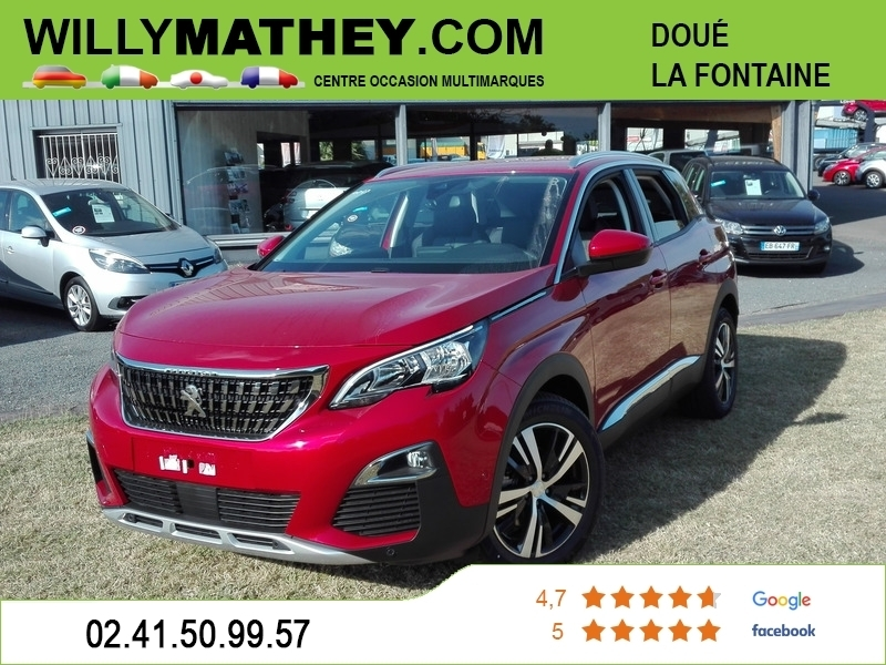 Photo 1 de l'offre de PEUGEOT 3008 2.0 BLUEHDI 180CH €6.C GT S&S EAT8 à 35490€ chez Willy Mathey automobiles