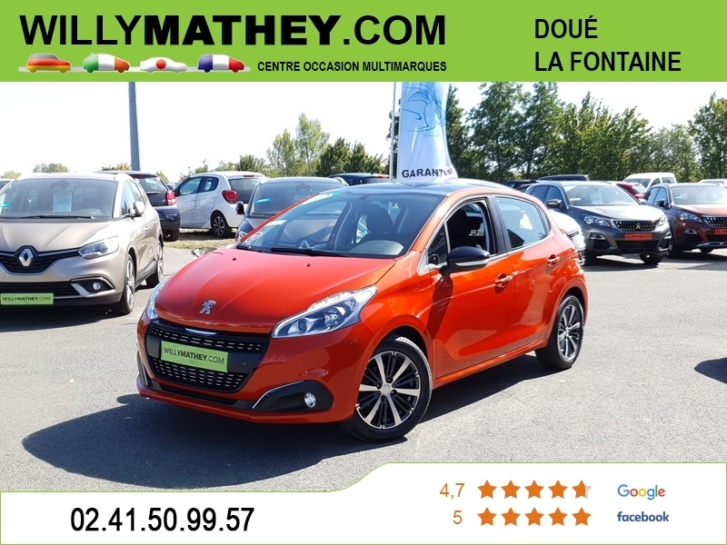 Peugeot 208 1.2 PURETECH 82CH ACTIVE 5P Essence ORANGE POWER Occasion à vendre