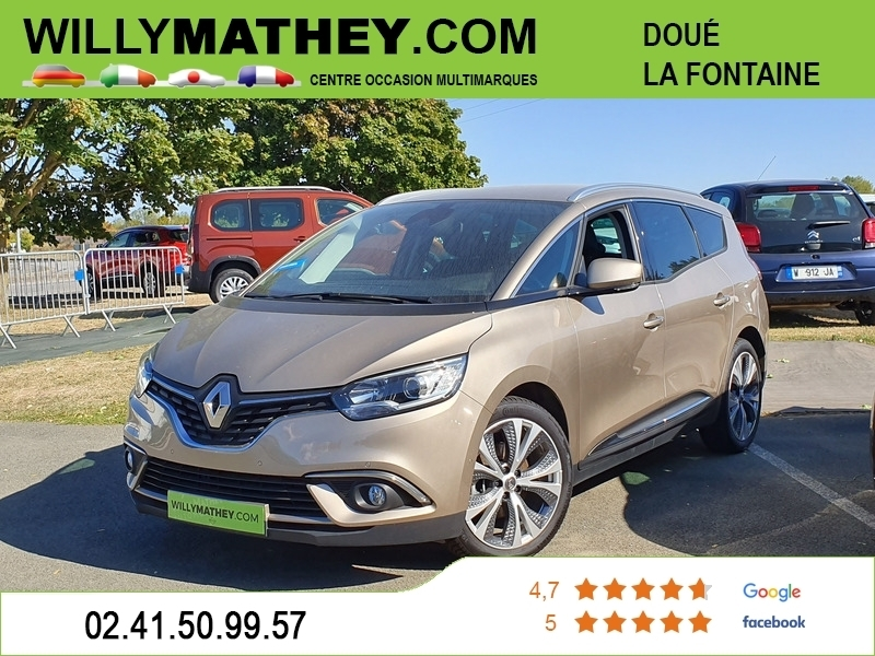 Renault GRAND SCENIC IV 1.5 DCI 110CH ENERGY INTENS Diesel BEIGE DUNE Occasion à vendre