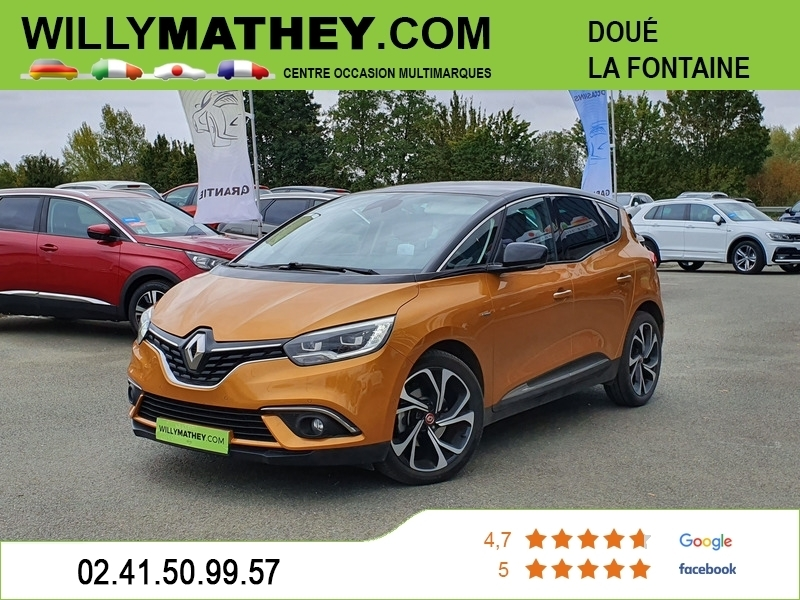 Renault SCENIC IV 1.6 DCI 160CH ENERGY EDITION ONE EDC Diesel JAUNE MIEL Occasion à vendre