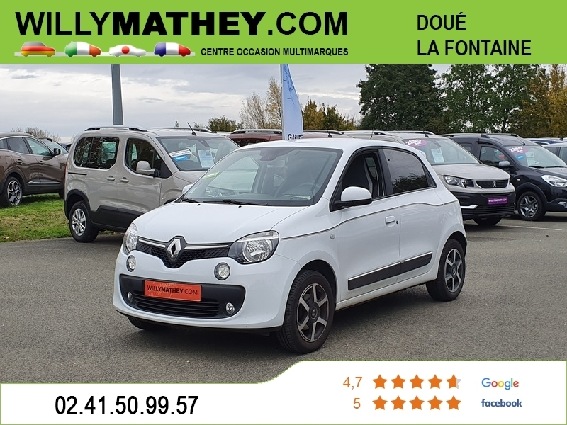 Renault TWINGO III 0.9 TCE 90CH ENERGY INTENS Essence BLANC CRISTAL Occasion à vendre