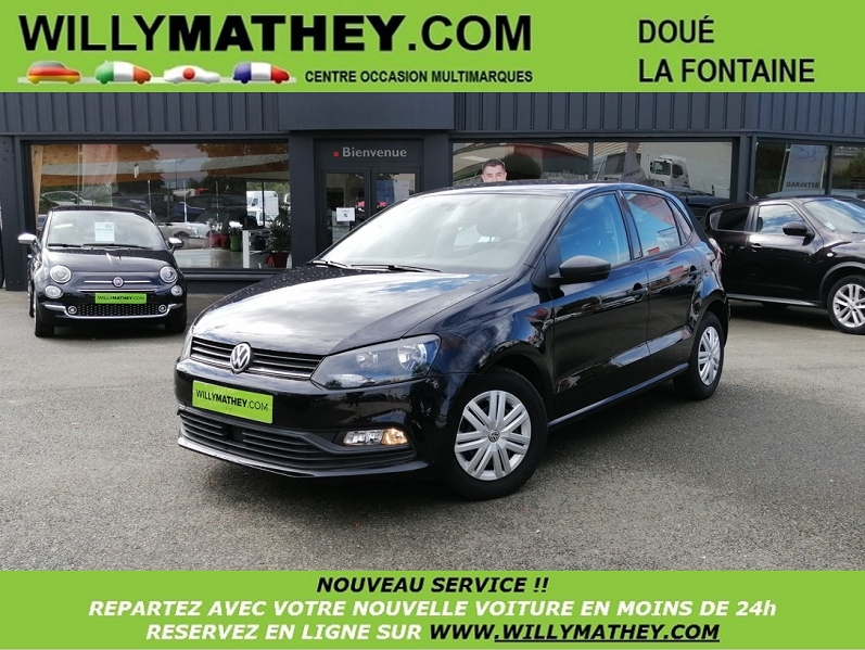 Volkswagen POLO 1.4 TDI 90CH BLUEMOTION TECHNOLOGY TRENDLINE 5P Diesel DEEP BLACK Occasion à vendre