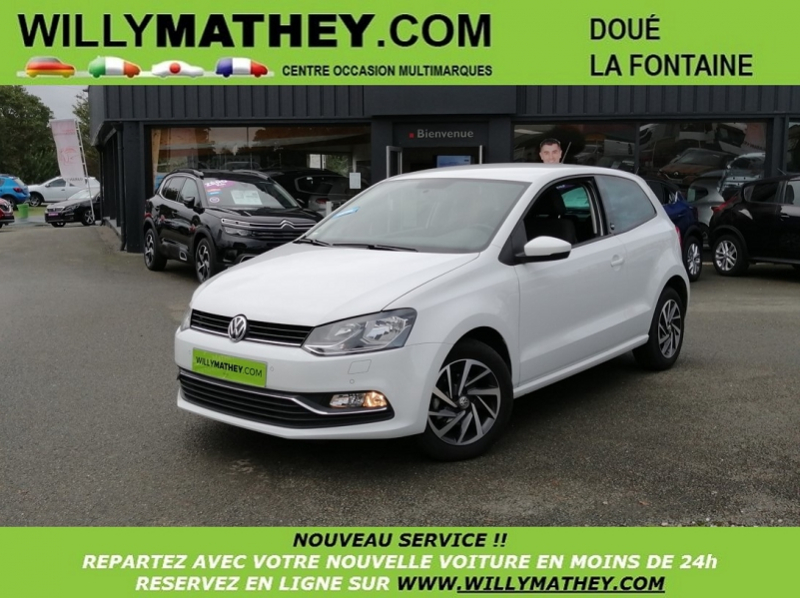 Volkswagen POLO 1.4 TDI 75CH BLUEMOTION TECHNOLOGY SOUND 3P Diesel BLANC PURE Occasion à vendre