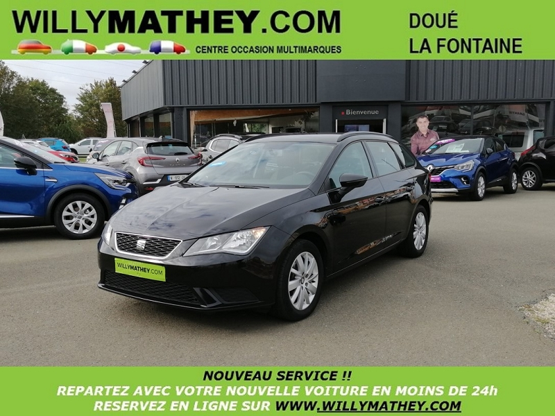 Seat LEON ST 1.6 TDI 105CH FAP REFERENCE START&STOP Diesel NOIR MIDNIGHT Occasion à vendre
